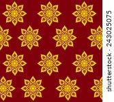 thai art pattern | Shutterstock .eps vector #243025075