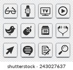 digital technology and... | Shutterstock .eps vector #243027637