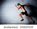 runner sprinting against... | Shutterstock . vector #243029239