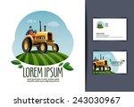tractor vector logo design... | Shutterstock .eps vector #243030967