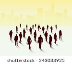 people silhouettes group | Shutterstock .eps vector #243033925