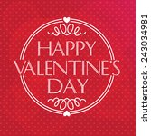 valentines day    Shutterstock .eps vector #243034981
