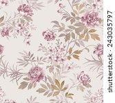 flowers seamless pattern   for ... | Shutterstock . vector #243035797
