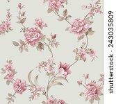 flowers seamless pattern   for ... | Shutterstock . vector #243035809
