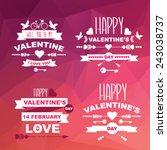 valentine's day poster. | Shutterstock . vector #243038737