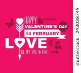 valentine's day poster. | Shutterstock . vector #243038749