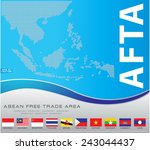 asean map dotted style... | Shutterstock .eps vector #243044437