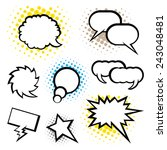 set of speech bubbles  pop art... | Shutterstock .eps vector #243048481