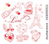 a set of high quality vector... | Shutterstock .eps vector #243050521
