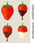 pile of strawberries isolated... | Shutterstock .eps vector #243051601