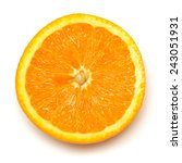 half of orange fruit isolated... | Shutterstock . vector #243051931