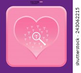 pink heart  search wi fi... | Shutterstock .eps vector #243062215