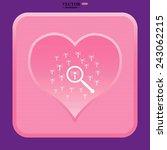 pink heart  search wi fi... | Shutterstock .eps vector #243062215