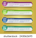 colorful modern text box... | Shutterstock .eps vector #243062695
