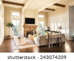 furnished living room interior... | Shutterstock . vector #243074209