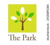 vector sign tree in the park | Shutterstock .eps vector #243089284