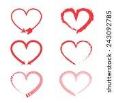 heart vector | Shutterstock .eps vector #243092785