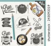 bon appetit  enjoy your meal ... | Shutterstock .eps vector #243093319