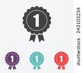 badge   vector icon. award sign | Shutterstock .eps vector #243103234