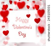 valentine's day background with ... | Shutterstock . vector #243105031