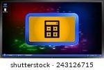 calculator icon on the screen...