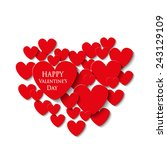 valentine's day card | Shutterstock .eps vector #243129109