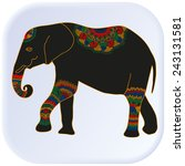 multicolored elephant vector... | Shutterstock .eps vector #243131581