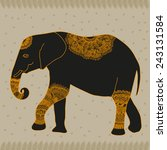 animal elephant vector graphic... | Shutterstock .eps vector #243131584