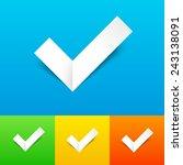 vector tick confirmation icon...