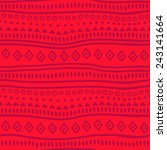 tribal red vector pattern.... | Shutterstock .eps vector #243141664