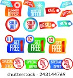 price labels and banners ... | Shutterstock .eps vector #243144769
