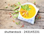 thai food curry chicken. | Shutterstock . vector #243145231