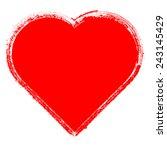 distressed heart shape . | Shutterstock .eps vector #243145429