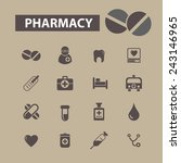 pharmacy icons set  vector | Shutterstock .eps vector #243146965
