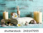composition of spa treatment on ...   Shutterstock . vector #243147055