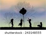 children silhouettes | Shutterstock .eps vector #243148555