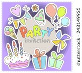 bright colorful invitation to a ... | Shutterstock .eps vector #243149935