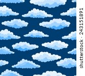 cartoon color clouds seamless... | Shutterstock .eps vector #243151891