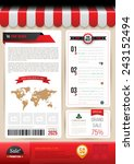 vector brochure template design ... | Shutterstock .eps vector #243152494