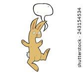 funny cartoon rabbit with... | Shutterstock .eps vector #243154534