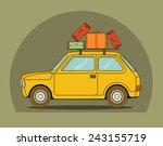 vector illustration of a retro... | Shutterstock .eps vector #243155719