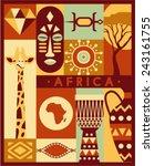 vector africa background | Shutterstock .eps vector #243161755