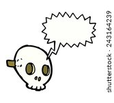 cartoon skull mask with speech... | Shutterstock .eps vector #243164239