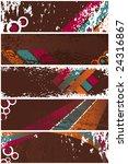 set of five vintage grunge... | Shutterstock .eps vector #24316867