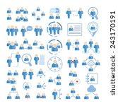 People Icons Set  Social Peopl...