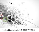 abstract vector background.... | Shutterstock .eps vector #243173905
