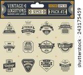 vintage vector logotypes ... | Shutterstock .eps vector #243175459