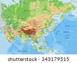 high detailed asia physical map ... | Shutterstock .eps vector #243179515