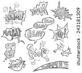 vector set of sketch comics... | Shutterstock .eps vector #243181309