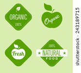 set of organic labels  | Shutterstock .eps vector #243189715